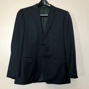 Z Zegna City Striped Suit Jacket Size 50R